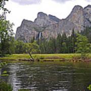 Valley View Of Bridalveil Falls Poster