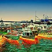 Valparaiso Boats Poster