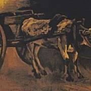 Van Gogh - Karren Mit Rotbraunem Ochsen.jpeg Cart With Red And White  Poster