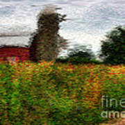 Van Gogh At The Barn Poster