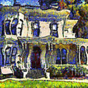 Van Gogh Visits The Old Victorian Camron-stanford House In Oakland California . 7d13440 Poster