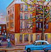 Van Horne Boulevard Montreal Street Scene Poster