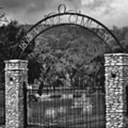 Vance Cemetery Black And White Poster