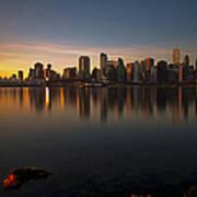 Vancouver Golden Sunrise Poster