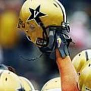 Vanderbilt Commodore Helmet  Poster