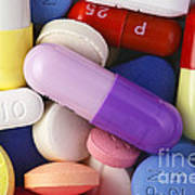 Variety Of Pills Poster by M. I. Walker