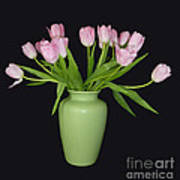 Vase Of Pink Tulips Poster