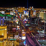 Vegas Strip At Night Poster