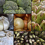 Vegetable Montage Poster by Forest Alan Lee