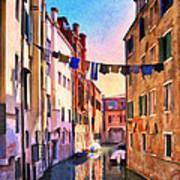 Venice Alleyway Poster