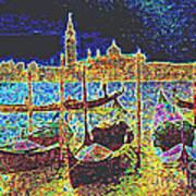 Venice Venezia Glow Poster