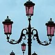 Venitian Lamp Posts Venice Italy Poster