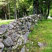 Vermont Stone Wall Poster