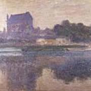Vernon Church In Fog Poster by Claude Monet