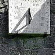 Vertical Sundial On Fenny Bentley Church Poster