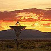 Very Large Array At Sunset Poster
