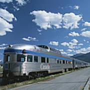 Via Rail Canada Train Waiting At Jasper Poster