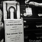 Vials Of Tetanus Antitoxin Poster by Science Source