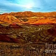 Vibrant Hills Poster
