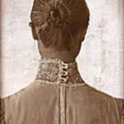 Victorian Lady From Behind Poster