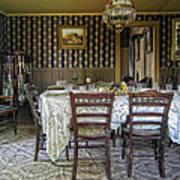 Victorian Sedman Home Dining Room - Nevada City Montana Poster