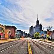 View Down Broadway Into Downtown Buffalo Ny Poster