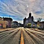 View Down Broadway Into Downtown Buffalo Ny Vert Poster