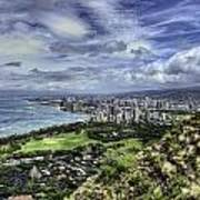 View From Diamond Head Poster
