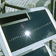 View Of An Amorphous Solar Cell Poster
