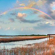 View Of Charleston Rainbow  Poster by Jenny Ellen Photography