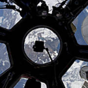 View Of Earth Through The Cupola Poster