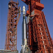 View Of Launch Pad 14 During Prelaunch Poster