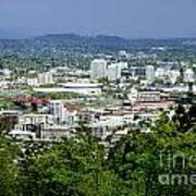View Of Portland Oregon From Pittock Mansion  Poster
