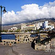 View Of Puerto De La Cruz From Plaza De Europa Poster