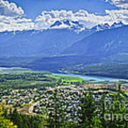 View Of Revelstoke In British Columbia Poster