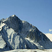 View Of Snow-covered Mountain Ridges Poster