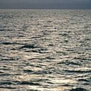 View Of Sunlit Waves On Open Water Poster
