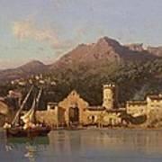 View Of Taormina Sicily Poster