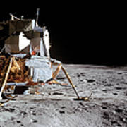 View Of The Apollo 14 Lunar Module Poster