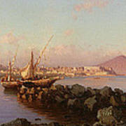 View Of The Bay Of Naples Poster