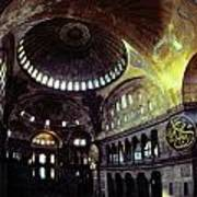 View Of The Interior Of Hagia Sophia Poster by James L. Stanfield