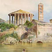 View Of The Sbocco Della Cloaca Massima Rome Poster