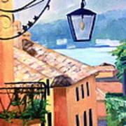 View To Lake Como Poster