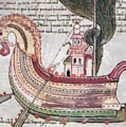 Viking Ship - 10th Century Poster