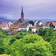 Village Of Rottelsheim, Alsace, France Poster