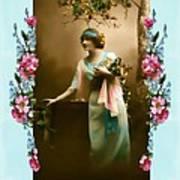 Vintage Aqua Poster