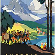 Vintage Austrian Travel Poster Poster