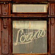 Vintage Bank Sign Poster