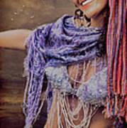 Vintage Belly Dancer Poster