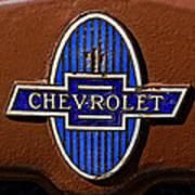 Vintage Chevrolet Emblem Poster
